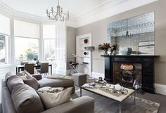 Elegant, light-filled Victorian apartment in Edinburgh is perfect for city life