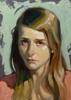 "Daily Paintworks - ""Down"" - Original Fine Art for Sale - © John Larriva"