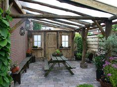 veranda polycarbonaat heel gezellig Canopy, Porch, Pergola, Outdoors, Outdoor Structures, Gardening, Patio, Glass, Outdoor Decor