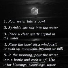 Someone asked me how to make holy water. #pagan #wiccan