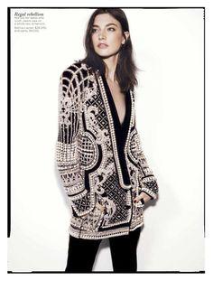Jacquelyn Jablonski in Balmain for the September 2012 issue of Vogue Australia.
