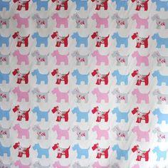 Scottie Dog - Pink - £10.50 per metre