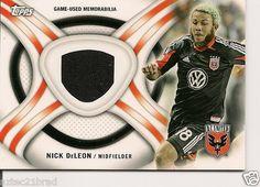 2013 Topps MLS Kits Nick DeLeon #KIT-ND DC United Game Worn Jersey