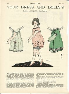 PAPER DOLLS (CHILD LIFE MAGAZINE) MAY 1925 (DESIGNED BY CHIQUET)