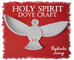 I love this Holy Spirit dove craft! It's easy enough for little ones and can be expanded to cover the Seven Gifts of the Holy Ghost. Use it for Pentecost, Baptism, Confirmation and other lessons on the Holy Ghost.