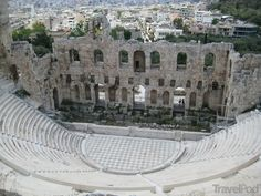 ARCHITECTURE: Located in Acropolis, the Dionysus theater was the birthplace of Greek entertainment and drama, as well being the first theater in the world. Ever since it was made in about the 6th century, it has been reconstructed many times. This theater was dedicated to Dionysus, the god of wine making and ecstasy.
