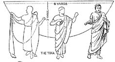 """Toga tutorial"" …with some well placed accessories, you wouldn't need to be a generic toga-wearing Grecian…"