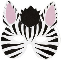 Zebra Mask...    I am going to attempt to make this out of felt.