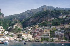Positano. View from the sea
