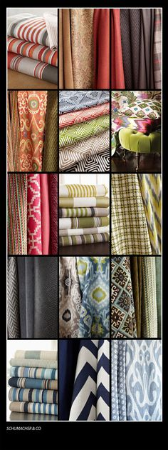 I like this fabric w/color by Schumacher Fabrics