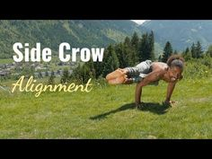 The Side Crow yoga pose is a playful variation of Crow Pose. Accomplishing this yoga pose requires core and arm strength and even more strength of mind. Side Crow Pose, Yoga Anatomy, Psoas Muscle, Standing Poses, Hip Ups, Core Muscles, Abdominal Muscles, Asana
