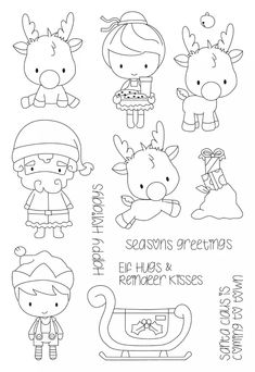 Look what I found on AliExpress Christmas Doodles, Christmas Drawing, Christmas Coloring Pages, Christmas Colors, Christmas Art, Colouring Pages, Coloring Books, Tampons Transparents, Illustration Noel