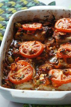 POISSON au FOUR à la MAROCAINE! (Toujours vérifier la cuisson du poisson). Il faudrait peut être une pré-cuisson des légumes.....