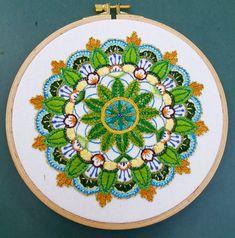 """חיה רקמה על הדפס """"מוניטה"""". מנדלה נפלאה ושמחה Decorative Plates, Home Decor, Sewing Techniques, Needlepoint, Homemade Home Decor, Decoration Home, Interior Decorating"""