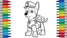 Paw Patrol coloring pages, Chase Paw Patrol Coloring Pages For Kids, How to color Paw Patrol Puppy, Let's color Paw Patrol. Paw Patrol Coloring Pages, To Color, Coloring Pages For Kids, Thankful, Puppies, Make It Yourself, Fictional Characters, Art, Art Background