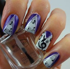 Tales of Knit and Nails: Peek-a-boo Music Notes Stamping