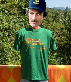 80s vintage t-shirt MARINE corps MARATHON 1983 road by skippyhaha