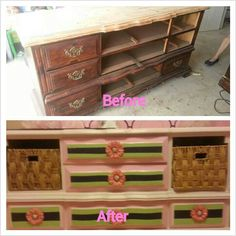 This so gives me an idea for an old dresser that I want to turn into an entertainment center!!