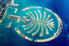 Aerial view of the Dubai palm