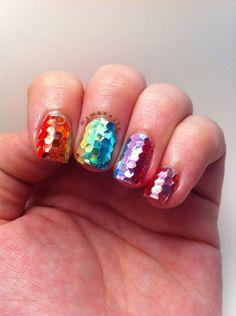 Rainbow Glitter Gradient #glitterplacement #nailart