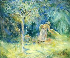 Berthe Morisot  Haying at Mezy