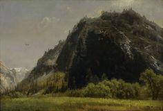 """Near Glacier Rock, Yosemite,"" Herman Herzog, ca. 1873, oil on canvas, 14.25 x 21.25"", Oakland Museum of California."
