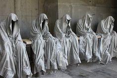 contemporary-art-sculpture-ghost-guards-manfred-kielnhofer