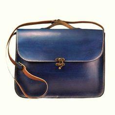 nice Blue Leather Laptop Bag ,Briefcase ,Messenger Bag ,Shoulder Bag ,Satchel ,for me...