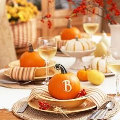 Pretty Pumpkin Place Setting
