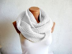 Special hand knitted infinity scarf Block by WomanStyleShop, $40.00