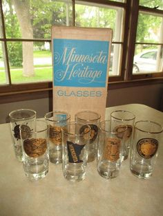 Found on EstateSales.NET: Vintage F&M Community Bank Minnesota Heritage  glassware set Minneapolis 6/10 & 6/11/17