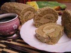 Kávová roláda S Baileys recept - TopRecepty. Swiss Cake, Cake Roll Recipes, Noel Christmas, Rolls Recipe, Baileys, Graham Crackers, Nutella, Baked Goods, Sweet Recipes