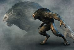 ArtStation - The werewolf, Yang Yang Fantasy Monster, Monster Art, Creature Feature, Creature Design, Fantasy Creatures, Mythical Creatures, Werewolf Art, Beast Creature, The Ancient Magus Bride