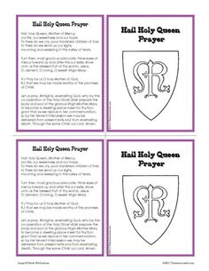 Hail Holy Queen Prayer Learning Card Set | Thatresourcesite – Educational and Religious Education Resources for Teachers and Homeschoolers.