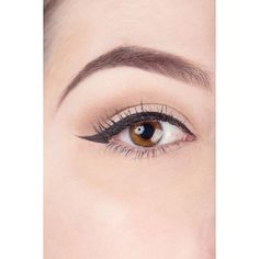 How to Use Scotch Tape to Perfect Your Liquid Eyeliner ❤ liked on Polyvore featuring beauty products, makeup, eye makeup, eyeliner, liquid eyeliner and liquid eye liner