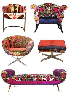 patchwork chairs