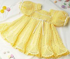 Leisure Arts - Banana Split Baby Dress Crochet Pattern ePattern, $4.99 (http://www.leisurearts.com/products/banana-split-baby-dress-crochet-pattern-digital-download.html)