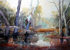 Paintings and master works of David Taylor Marshland in the mist