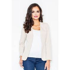 Now available on our store: Beige jacket with... Check it out here! http://coco-glam-boutique.myshopify.com/products/jacket-without-fastening-5