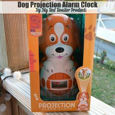 Dog Projection Alarm Clock by Big Red Rooster Products http://thestuffofsuccess.com
