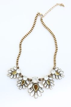 Diane Jeweled Chain Link Statement Necklace