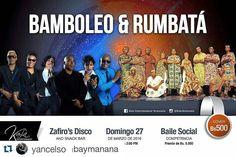 #Repost @yancelso with @repostapp  #Repost @saborarumbaymanana with @repostapp  Y la cita es este domingo 27 para que disfruten de dos excelentes agrupaciones cubanas los esperamos y recuerden que son la rumba no somos nada #RumberosDeManana #SalsaCasinoVenezuela #Concierto #Bamboleo #Rumbatá #Zafiro'sPlace #SalsaCasinoVenezuela #Salsa #SalsaCasino #DanceSalsa #DanceSalsaCasino