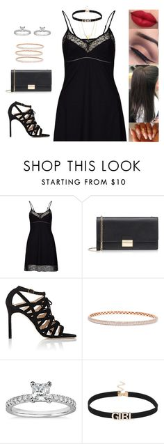 """Untitled #4515"" by sigalv ❤ liked on Polyvore featuring Daniel Hechter, Furla, Manolo Blahnik, Anita Ko and Blue Nile"
