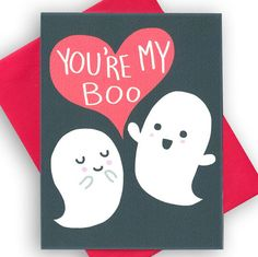 Youre My Boo - Funny Valentines Day Card - Funny Valentine Card - Ghost… More