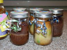 Homemade birthday cake in a mason jar. Perfect for sending to soldiers overseas!
