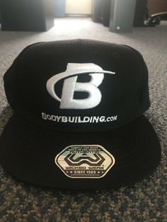 1795a7c8174 Bodybuilding.com Wicked Wear Black Snap Back Adjustable Hat New w  Tags  Olympia
