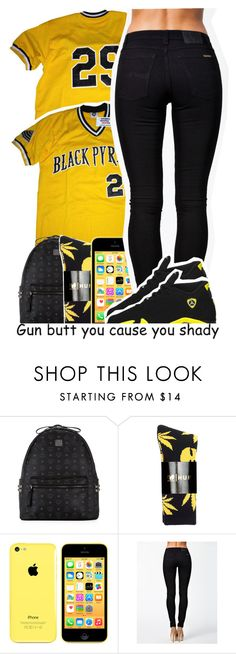 """Black pyramid"" by destinylove66 ❤ liked on Polyvore featuring MCM, HUF, Nudie Jeans Co. and Retrò"