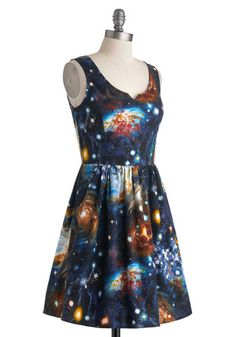 Miss Frizzle is my fashion icon.  Heart and Solar System Dress, #ModCloth