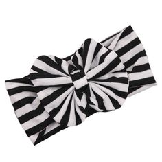 """FEITONG(TM) 2015 New Lovely Baby Girl Big Striped Bow Elastic Headband Hairband. beautiful Headband,Different bright colors can match with different clothes of your baby!. Material:Cloth, Item Type:Hair Band. Size:18.5*7cm/7.28*2.76""""(Fit 3 months to 3 Year Old Baby). Occasion:Baby Shower Birthday Party Family Photo. As different computers display colors differently, the color of the actual item may vary slightly from the images."""
