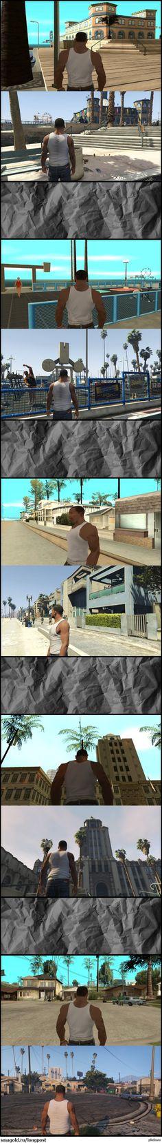 Разница в 11 лет. GTA:SA и GTA V  GTA, не мое, время, прогресс, игры, длиннопост